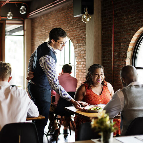 Boelter Blue's Blue Napkin First-time Guest System will turn first-time guests into regulars