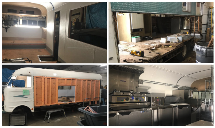 Chrysler Food Truck Interior and Kitchen
