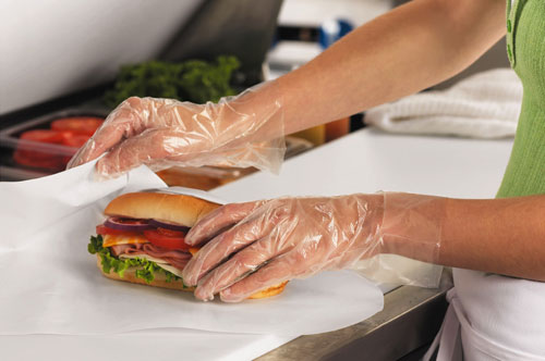 Embossed Poly Disposable Gloves by FoodHandler