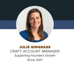 Julie Gingrass, Craft Account Manager Boelter